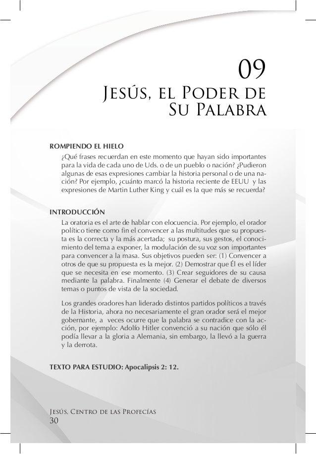09                   Jesús, el Poder de                           Su PalabraROMPIENDO EL HIELO  ¿Qué frases recuerdan en e...