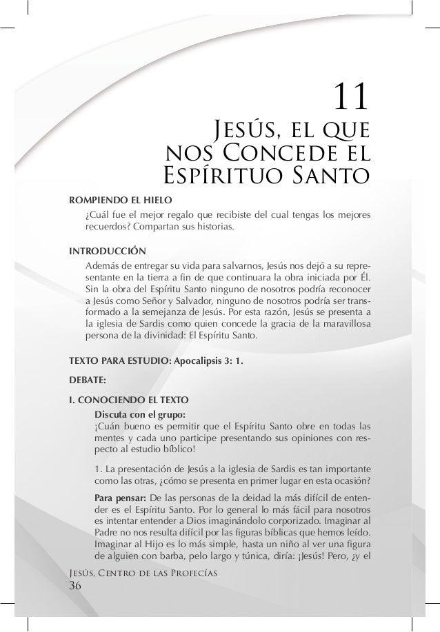 11                          Jesús, el que                      nos Concede el                      Espírituo SantoROMPIEND...