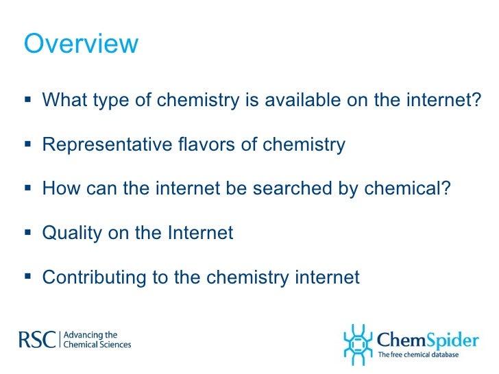 Navigating an Internet of Chemistry via ChemSpider Slide 2