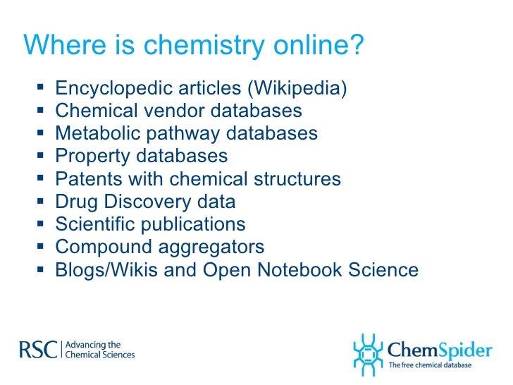 Navigating an Internet of Chemistry via ChemSpider Slide 3