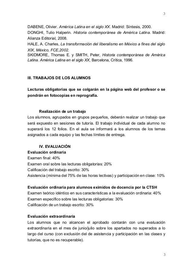 DABENE, Olivier. América Latina en el siglo XX. Madrid: Síntesis, 2000. DONGHI, Tulio Halperin. Historia contemporánea de ...