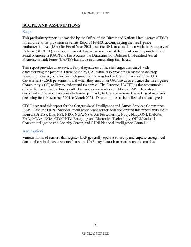 Rapport du Congrès Américain sur les OVNIS Slide 2