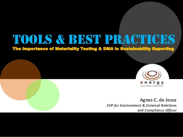 TOOLS & BEST PRACTICESThe Importance of Materiality Testing & DMA in Sustainability Reporting                             ...