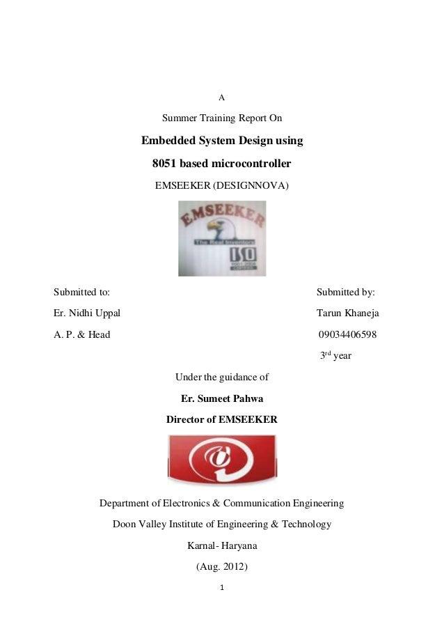 UART project report by Tarun Khaneja ( 09034406598 )