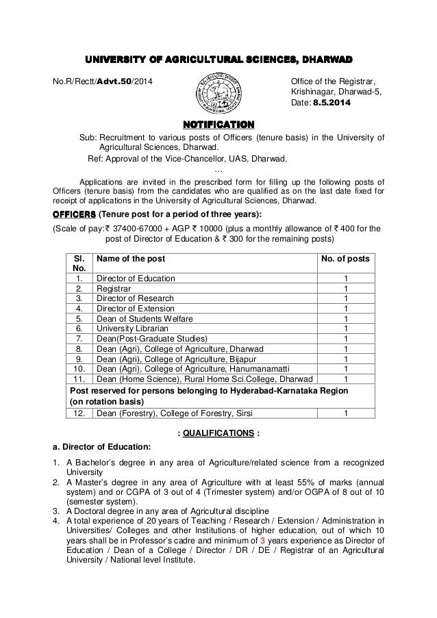 UNIVERSITY OF AGRICULTURAL SCIENCES, DHARWADUNIVERSITY OF AGRICULTURAL SCIENCES, DHARWADUNIVERSITY OF AGRICULTURAL SCIENCE...