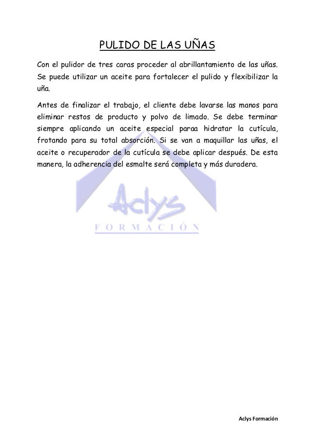 aclys formacin 23 manicura francesa con porcelana