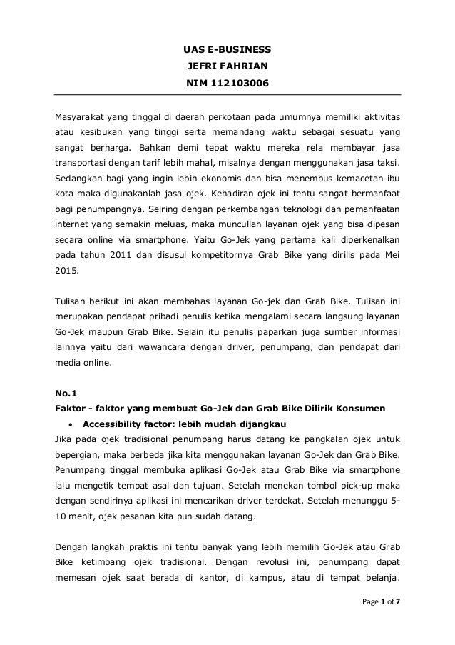 Page 1 of 7 UAS E-BUSINESS JEFRI FAHRIAN NIM 112103006 Masyarakat yang tinggal di daerah perkotaan pada umumnya memiliki a...