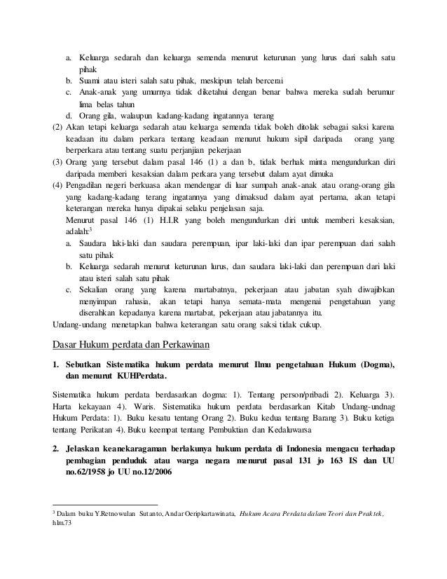 Soal Ujian Hukum Perdata Guru Ilmu Sosial