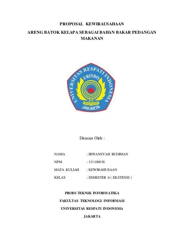 Contoh Proposal Pkm Kewirausahaan Kerajinan Tangan Barisan Contoh