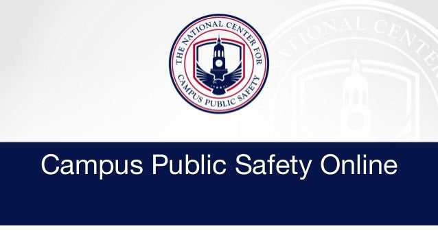 Campus Public Safety Online