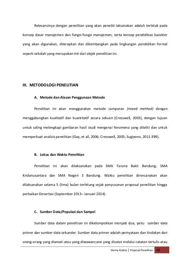 kualitatif pendidikan manajemen tesis penelitian proposal