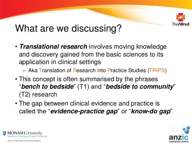 translating research into practice essay Sharing evidence (graded) translating research into practice is the final and most important step in the research process review information you found in the database assignment and explain how you would share the research findings with your peers.