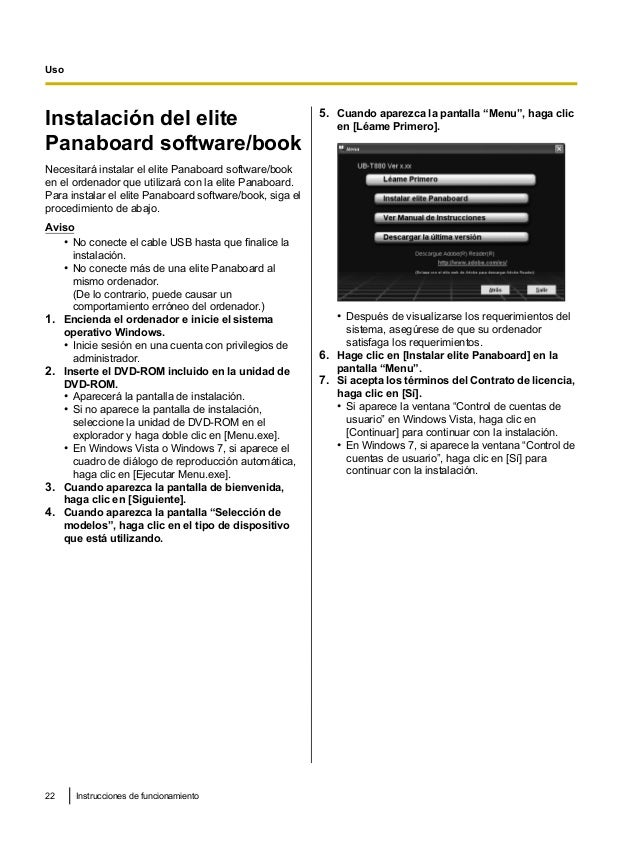 Ub t880 operating-instructions