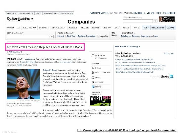 ©2009 Paul Isakson                      http://www.nytimes.com/2009/09/05/technology/companies/05amazon.html
