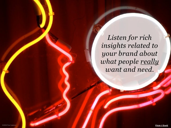 Listen for rich                      insights related to                      your brand about                      what p...