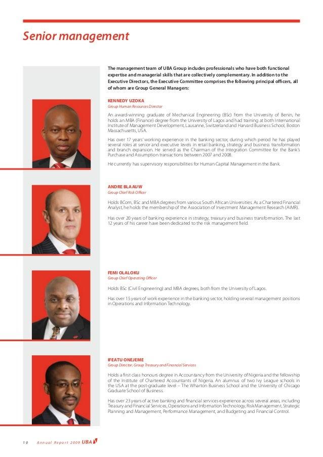 Uba Annual Report 2009