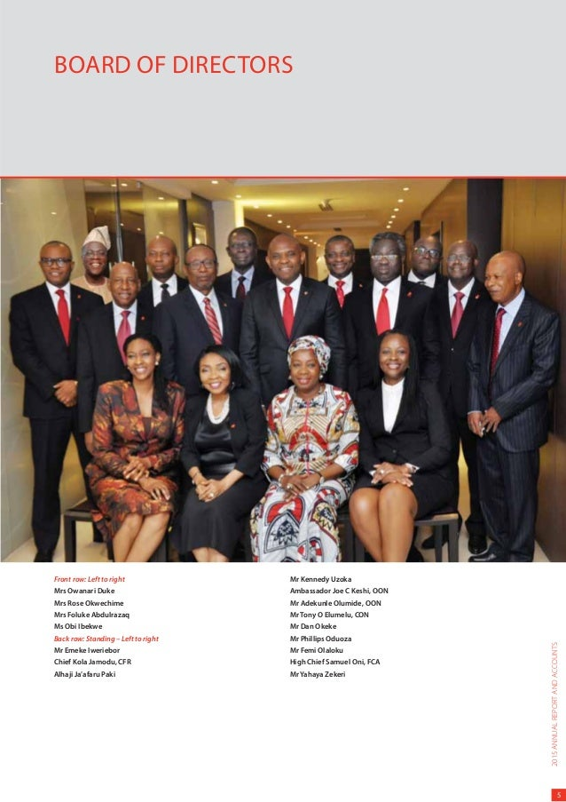 Image result for UBA Group Board of Directors
