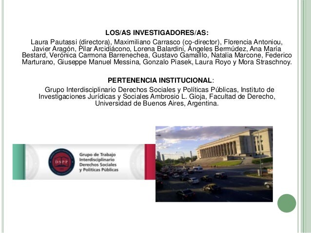 Diez años de las directrices voluntarias de FAO. Una mirada acerca de su implementación en Argentina y las oportunidades que presentan los indicadores de progreso Slide 2