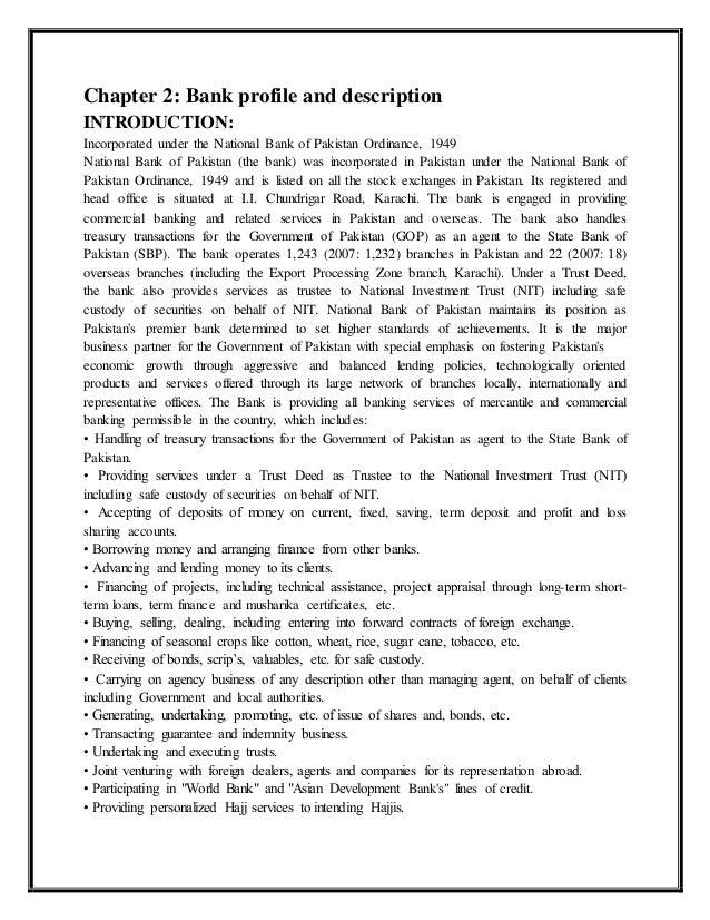 Ubaid ur rehman final internship report on nbp hr department - National bank of pakistan head office ...