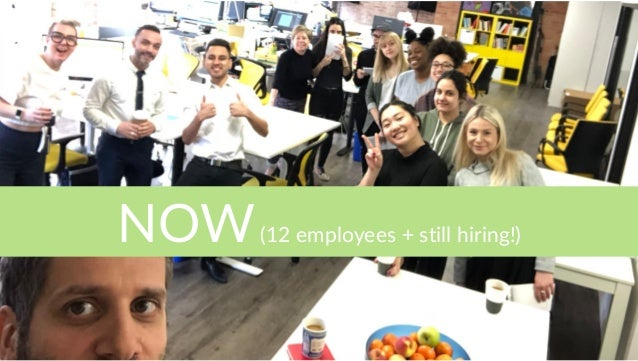 NOW(12 employees + still hiring!)
