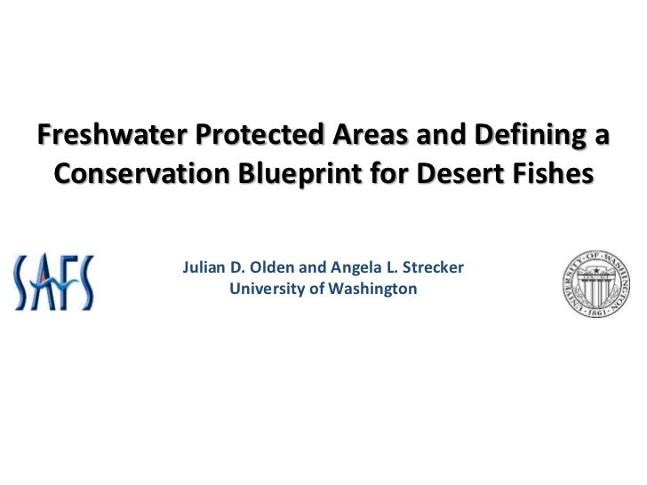 Freshwater Protected Areas and Defining a Conservation Blueprint for Desert Fishes          Julian D. Olden and Angela L. ...