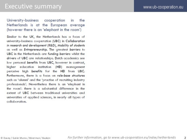University-Business Cooperation Country Report Netherlands Slide 2