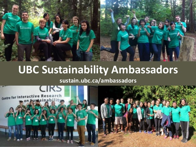 UBC Sustainability Ambassadors sustain.ubc.ca/ambassadors