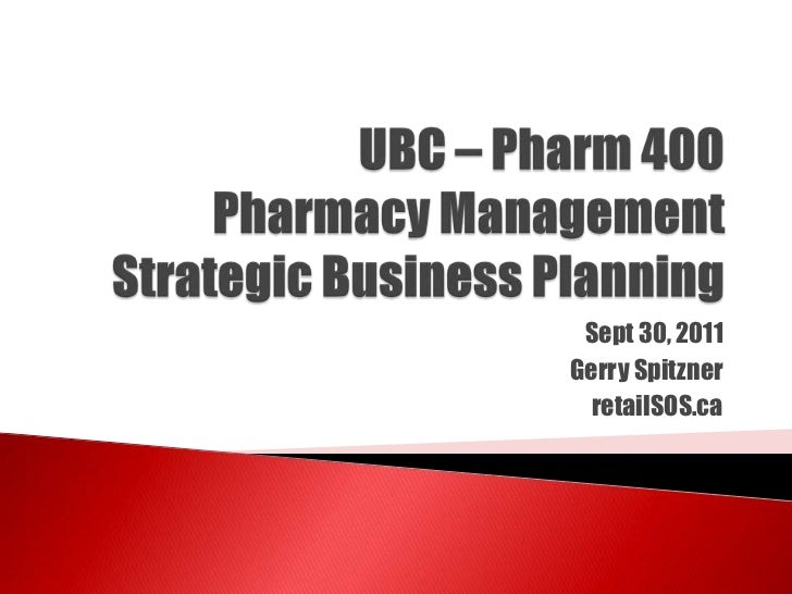 Opening a pharmacy business plan
