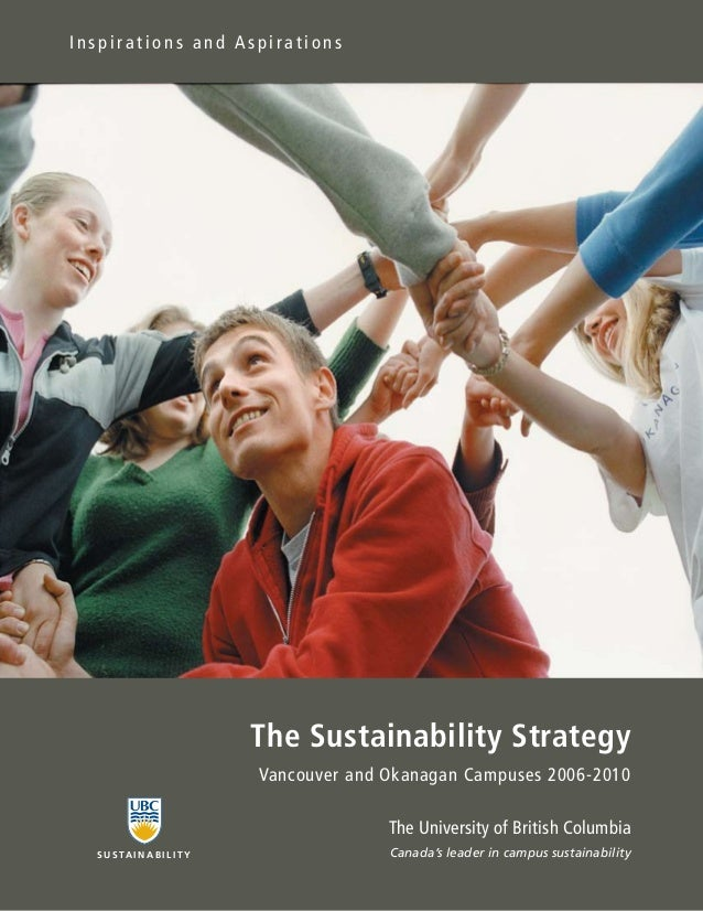 Inspirations and Aspirations                               The Sustainability Strategy                               Vanco...