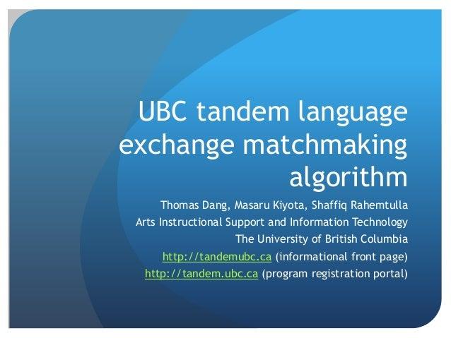 Ubc matchmaking