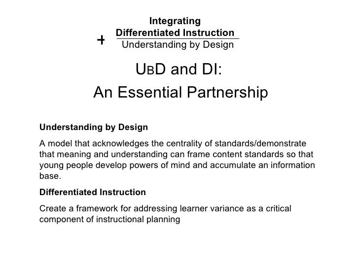 Integrating Differentiated Instruction & Understanding by ...