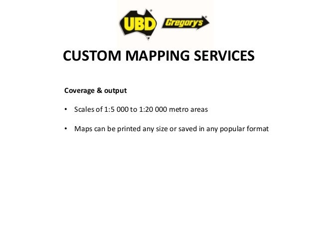 Street Directory Map Production Custom Mapping - Custom mapping services