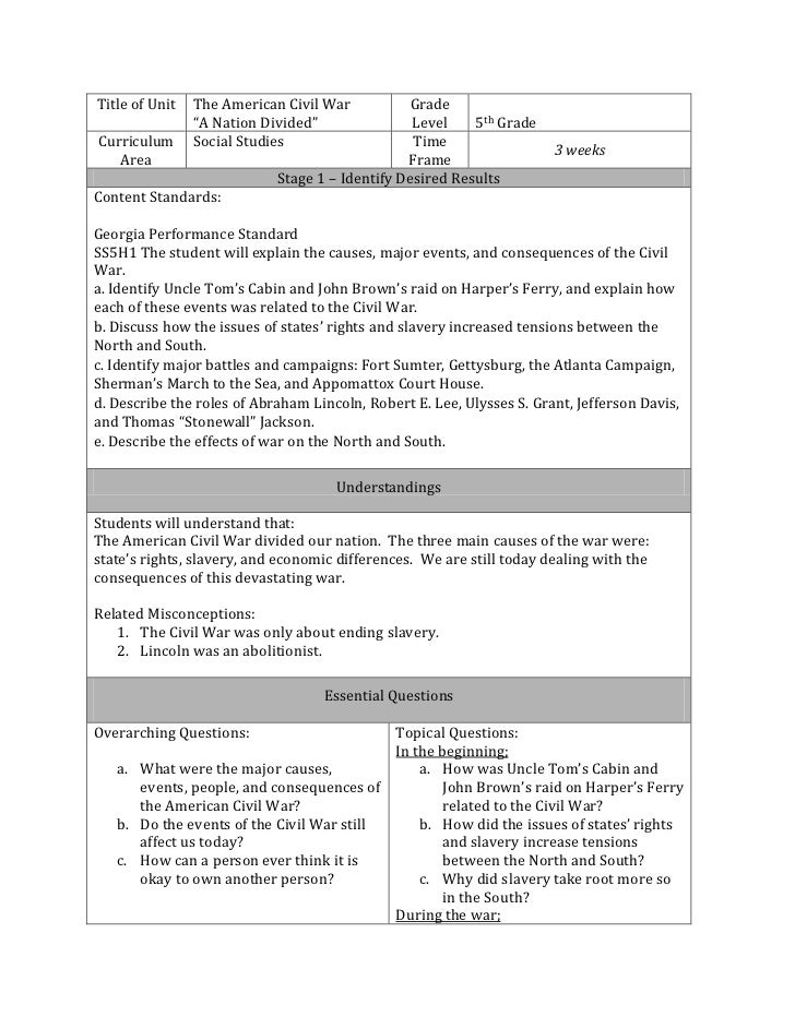 Ubd lesson plan - Understanding by design lesson plan template ...