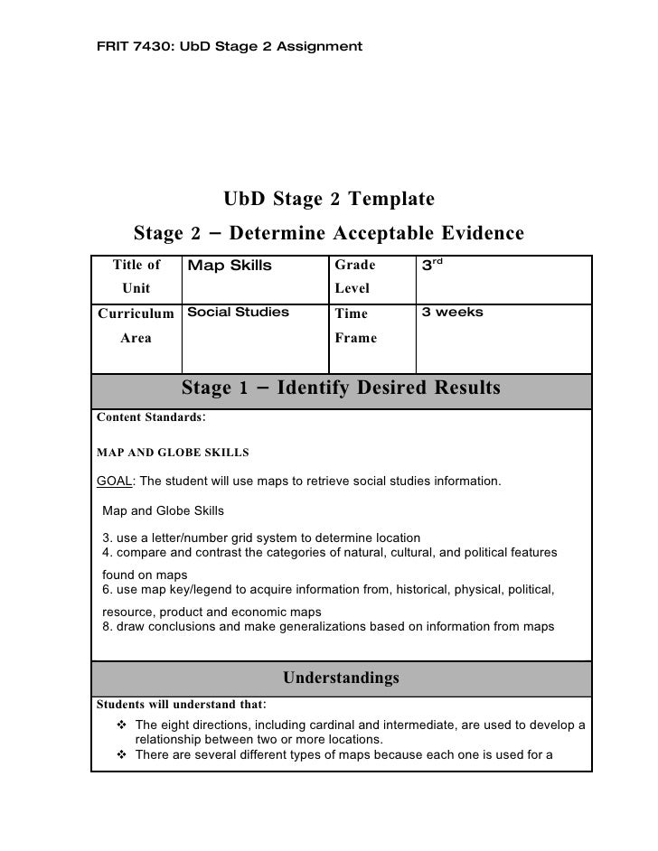 Sample Ubd Lesson Plan In Science Grade 2 Ubd Template Reading