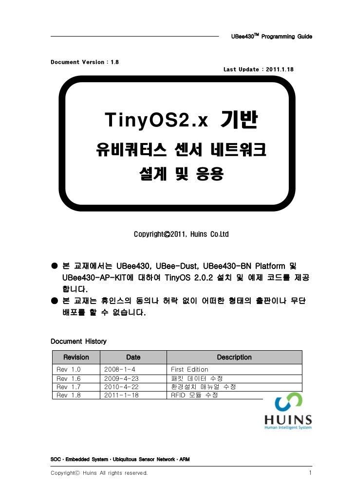 UBee430TM Programming GuideDocument Version : 1.8                                                           Last Update : ...