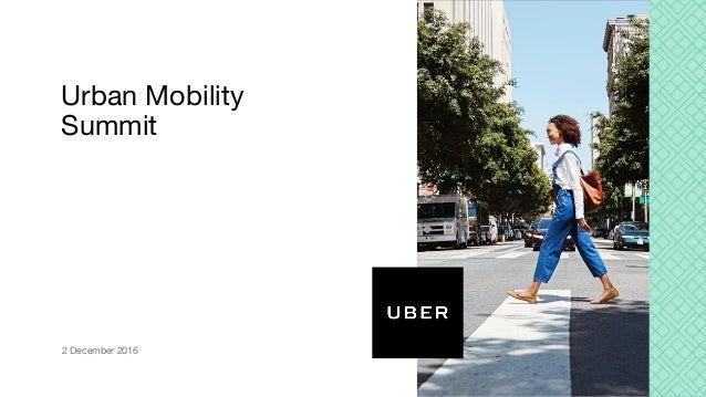 Urban Mobility Summit 2 December 2016