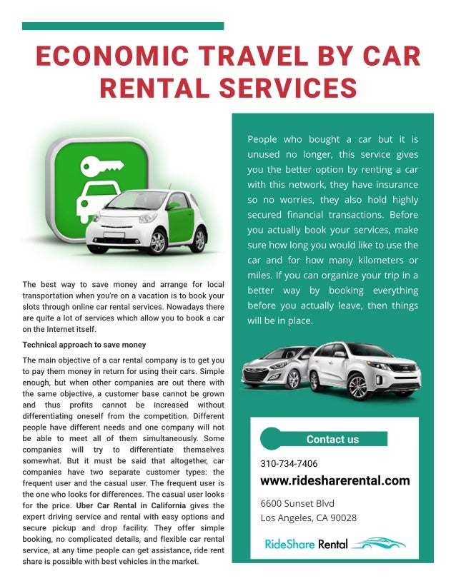 Economic Travel by Car Rental Services