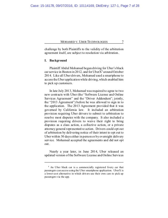 Uber Case On Arbitration United States Court Of Appeals For The N