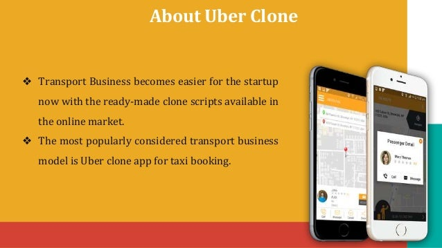 Uber clone on demand taxi booking app Slide 2