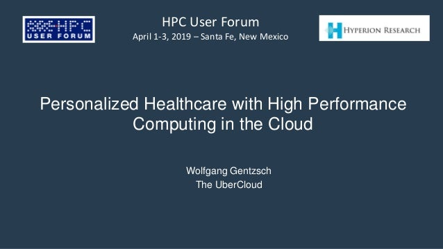 Title slide from Personalized Healthcare with HPC in Cloud presentation.