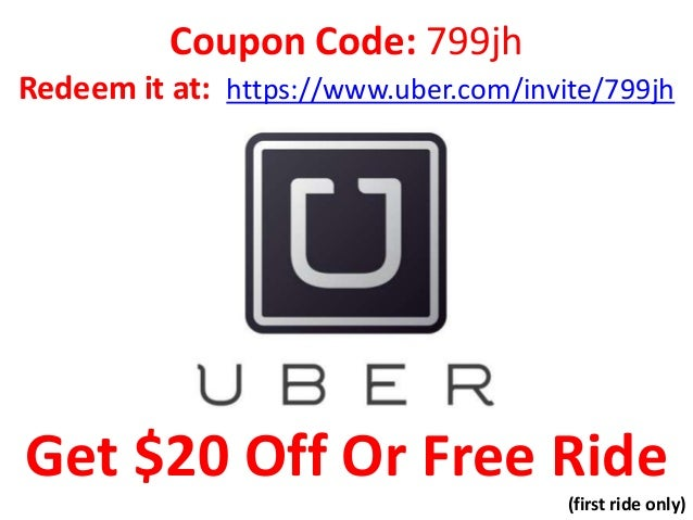 Coupon Code: 799jh Redeem it at: https://www.uber.com/invite/799jh  Get $20 Off Or Free Ride (first ride only)