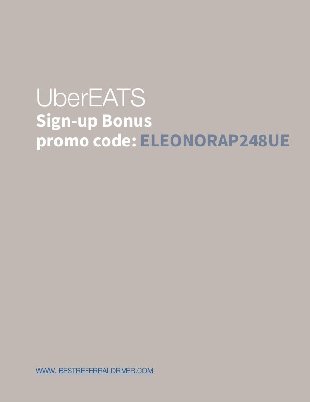Ubereats driver sign up bonus