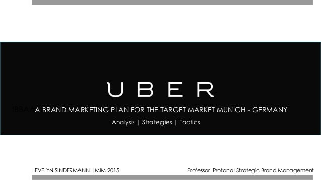IBBAAA BRAND MARKETING PLAN FOR THE TARGET MARKET MUNICH - GERMANY Analysis | Strategies | Tactics EVELYN SINDERMANN |MIM ...