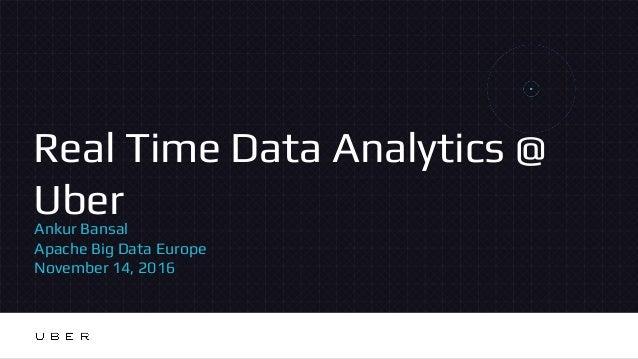 Real Time Data Analytics @ UberAnkur Bansal Apache Big Data Europe November 14, 2016