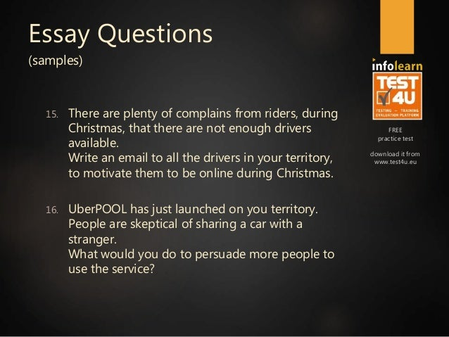 uber analytics preparation course v essay questions tes  8
