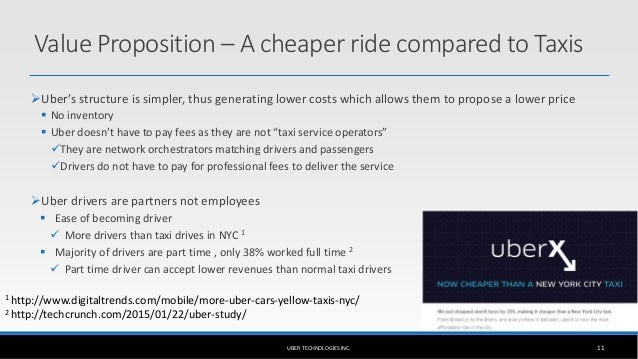 uber cost structure