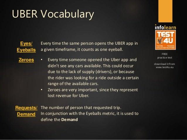 UBER Analytics Preparation Course v 3 1 & 6 16: Services & Vocabulary…