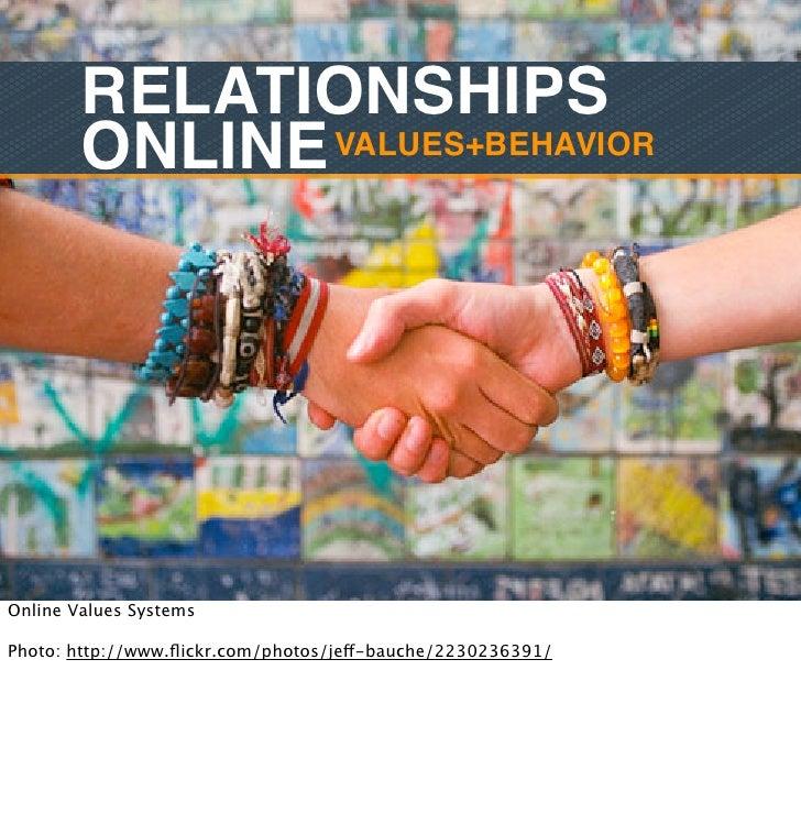 RELATIONSHIPS        ONLINE VALUES+BEHAVIOROnline Values SystemsPhoto: http://www.flickr.com/photos/jeff-bauche/2230236391/