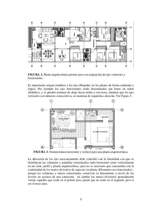 Ubicaci n de ejes en un plano arquitect nico for Que es una planta arquitectonica