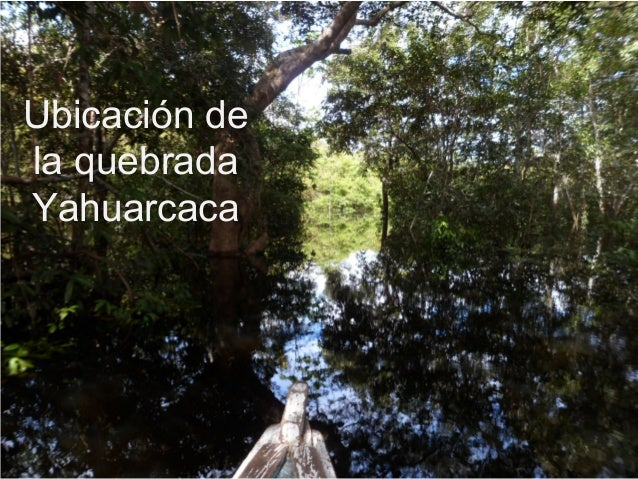 Ubicación de la quebrada Yahuarcaca